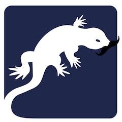 Basilisk logo with tache